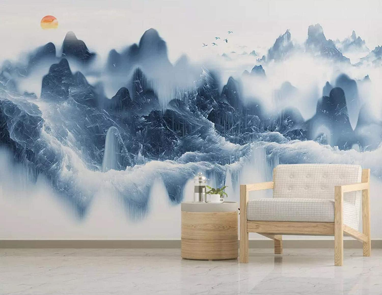 3D Mountain A2434 Removable Wallpaper Self Adhesive Wallpaper Extra Large Peel /& Stick Wallpaper Wallpaper Mural AJ WALLPAPERS