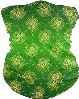 Green Vintage Pattern Headband Womens Bandana Multifunctional Mens Balaclava, Neck Warmer, Face Mask, Tube Aliceband