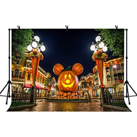 Nightmare Halloween Theme Backdrop Pumpkin Cemetery Background Studio Props