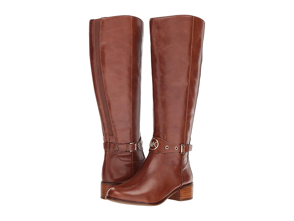 MICHAEL Michael Kors Heather Boot Wide Calf (Dark Caramel Polished Cow Leather/Wide Shaft) Women