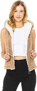 Love Tree Women's Juniors Soft Sherpa Teddy Bear Hooded Vest