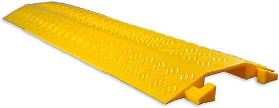 Durable Cable Ramp Protective Cover - 2,000 lbs Max Heavy Duty Drop Over Hose & Cable Track Protector, Safe in High Walking Traffic Areas - Cable Concealer for Outdoor & Indoor Use - Pyle PCBLCO22