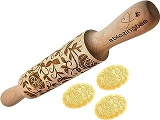 دبوس منقوش منقوش منقوش على شكل ورود متعددة الأغراض صديقة للبيئة أداة إكسسوار الخبز مصنوعة طبيعياً للحلويات والفنون