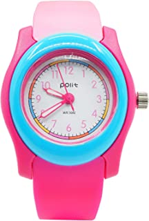 POLIT Children Kids Outdoor Sport Analogue Quartz Watch Waterproof Educational