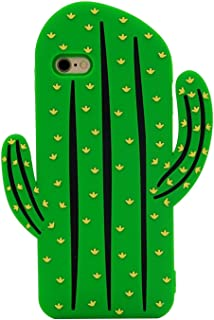 Beatuiphone Case for iPhone7/8 3D Cactus Design Stylish Funny Soft Flexible Silicone Gel Protective Bumper Skin Shell (iPhone 7/8 SL0319-I7-cactus1)