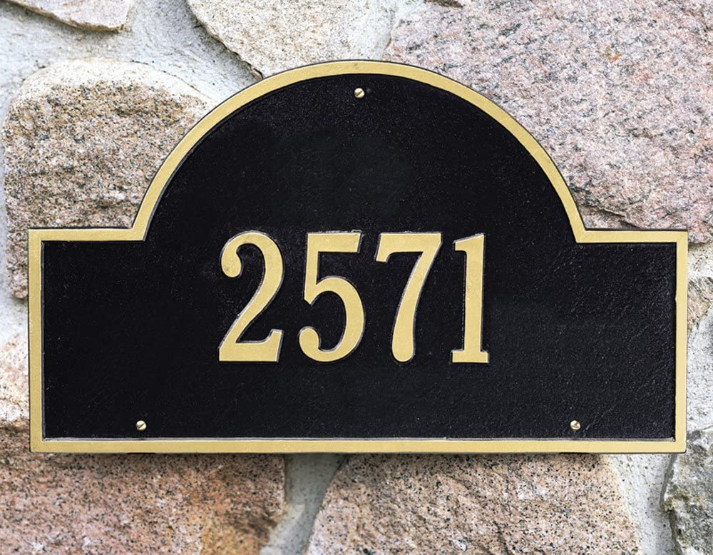 One free shipping Line Arch Marker Sales Estate in Wall Black GoldWhitehall-1001