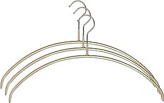 MAWA すべり落ちないマワハンガー 人体ハンガー 3本組 ゴールド 110558