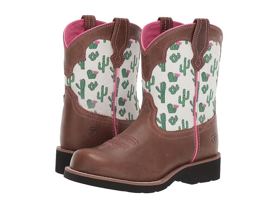 Ariat Kids Fatbaby Bell (Toddler/Little Kid/Big Kid) (Dark Sand/Cactus Print) Cowboy Boots