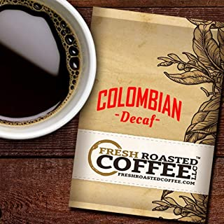 Fresh Roasted Coffee LLC, Decaf Colombian Coffee, 2.25 Ounce Pre-Ground Fractional Packages, 24 Portion Packs