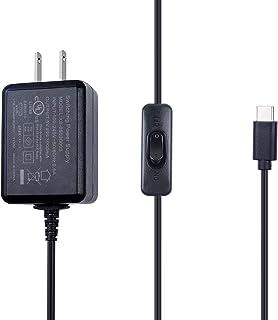 Smraza Raspberry Pi 4 USB-C (Type C)電源、5V 3A ラズベリーACアダプター RPi 4b Model B 1GB / 2GB / 4GB/ 8GB適用 PSE取得
