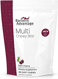 Bariatric Advantage - Multi Chewy Bite Soft Chew Multivitamin for Bariatric Patients, Gastric Bypass, Bariatric Sleeve, 60...