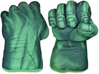 ACE SELECT Kids Cosplay Smash Gloves Large Soft Plush Green Grip Fists 1 Pair Boxing Gloves - 9.5 Inch