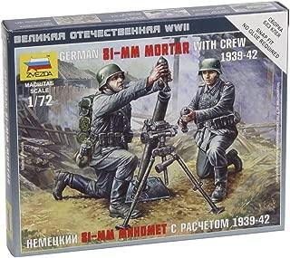 Zvezda German 81mm Mortar With Crew 1:72 - Model Kit Z6111