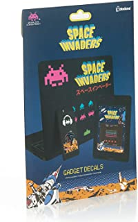 Paladone Space Invaders Gadget Decals - Vinyl Sticker Clings - 4 Sheets