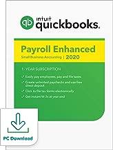 QuickBooks Desktop Enhanced Payroll 2020 I Compatible with QuickBooks Pro, Premier, and Enterprise [PC Download]