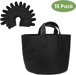 Brajttt 3 Gallon Grow Bags Set, Aeration Fabric Pots with Handles,Black Plant Bags,Durable Garden Grow Pots,Fabric Containers with Strap Handles 15 Pack