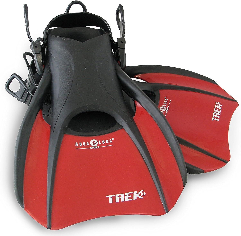 Aqualung Swim Snorkeling Trek Fin (Red Medium)