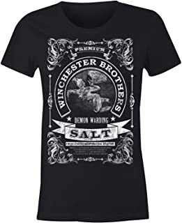 2XL GILDAN Ladies Winchester Brothers Demon Warding Salt T Shirt