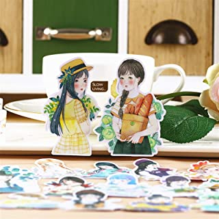 15pcs Creative Cute Kawaii self-Made Mori Cardamom Girls Scrapbooking Diary/Decorative Stickers/DIY Craft Photo Albums/Trunk