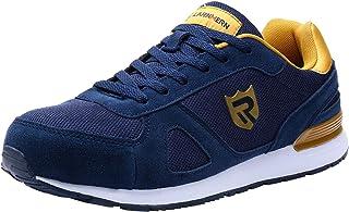 LARNMERN Zapatos de Seguridad Hombre Mujer, S1 SRC Punta de Acero Ligero Zapatillas de Seguridad Transpirable Reflectivo