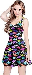 Womens Dinosaur Tyrannosaurus Jurassic Fossil Sleeveless Dress, XS-5XL