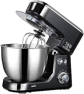 Stå mixer blender, svart 4L elektrisk matblandare 600W 6 hastighet rostfritt stål skål ägg visp-blender deg mixer maker ma...
