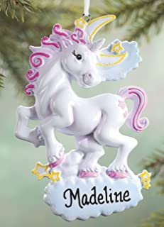 Fox Valley Traders Personalized Unicorn Ornament