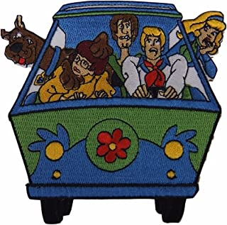 Scooby-Doo Mystery Machine 4 Inch Wide Iron on Patch
