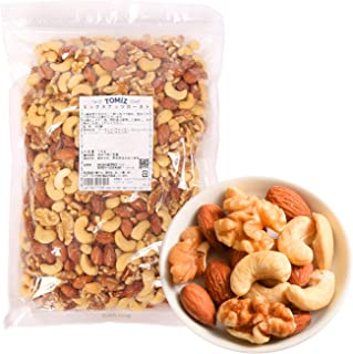 ミックスナッツ ロースト / 1kg TOMIZ/cuoca(富澤商店) 素焼き 無塩 無添加 オイルなし 保存に便利なチャック袋入(アーモンド約33% カシューナッツ約33% くるみ約33%)