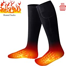 Missblue Heated Electric Warm Thermal Boot Socks,Rechargeable Battery Powered Winter Foot Warmers,Winter Heating Sox for Chronically Feet(Battery not Included)