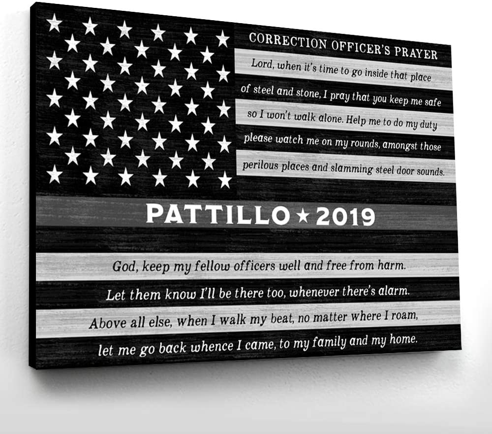 Custom Thin Grey Line Police Name Sign 20x30 Challenge the lowest price of Japan Officer Tucson Mall Ready-to