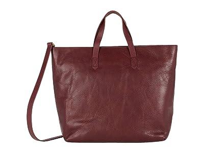 Madewell The Zip Top Transport Carryall (Dark Cabernet) Handbags