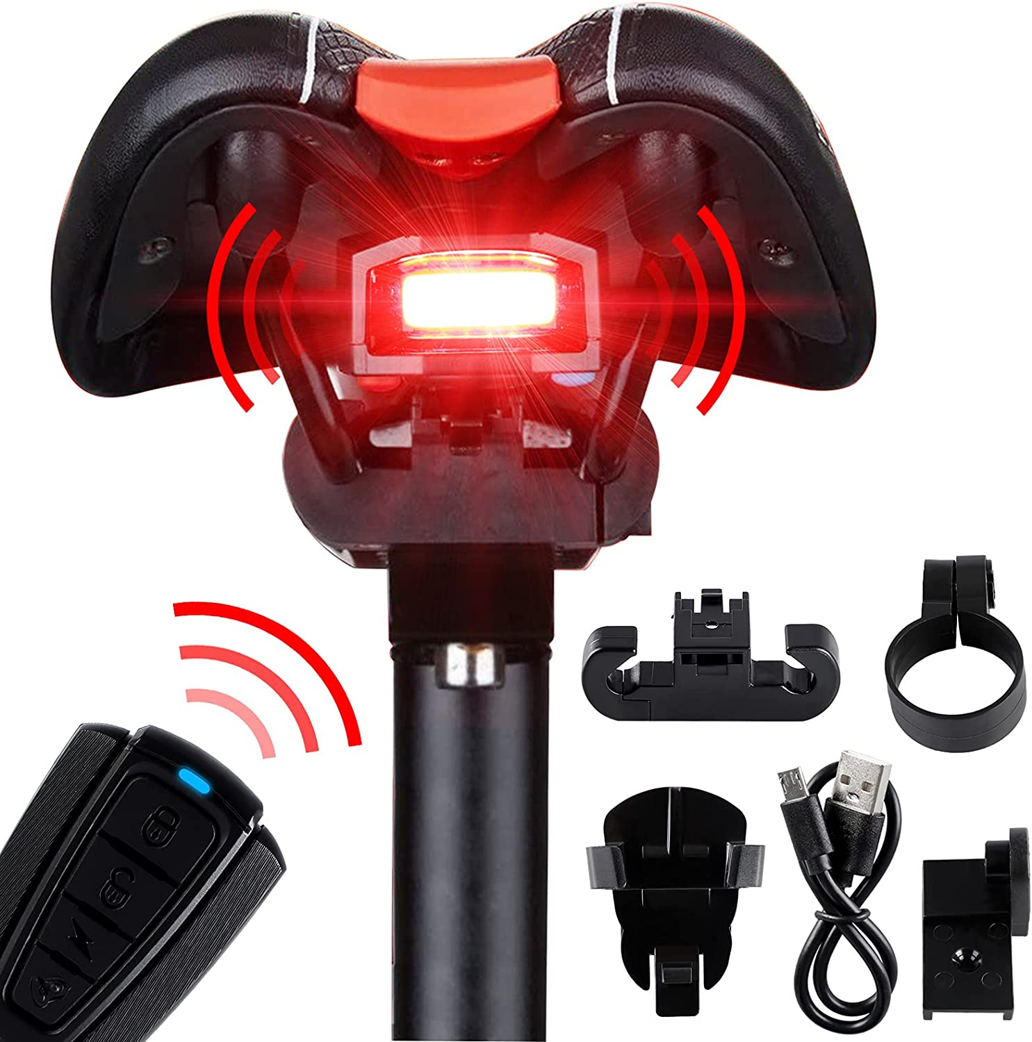 Bike Taillight Alarm Horn Fansport Rechargea Light Mail order Rear Fashionable Bicycle