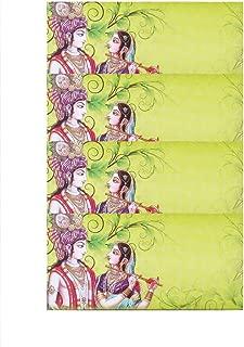 Diwali Gift Return Gifts Premium Shagun Envelope (Pack of 4) Money Holder Card Fancy Packet for Christmas Diwali Easter Birthday Wedding Anniversary Designer Invitation Envelopes (Green)