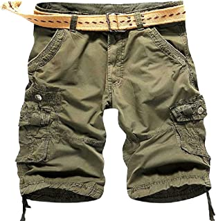f16799d391 Abetteric Mens Mid-Rise Basic Cotton Straight Boardshorts Without Belt