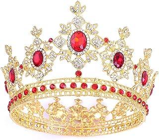 QinWenYan Corone Parte Superiore del diadema di Compleanno Corona di monili delle Donne Concorso di Bellezza Compleanno Nu...