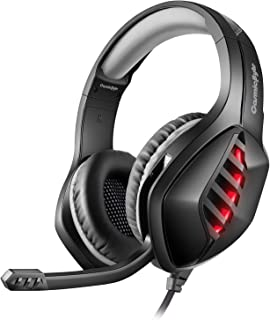 Cosmic Byte GS430 Gaming Headphone, 7 Color RGB LED and Microphone for PC, PS5, Xbox, Mobiles, Tablets, Laptops (Grey)