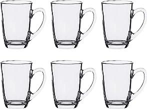 Luminarc Glass New Morning Tea/Mug, Set of 6 - Clear