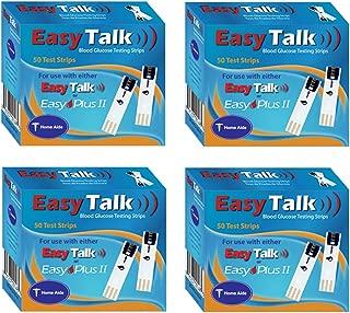 Easy Talk Blood Glucose Test Strips Bundle (4 x 50Ct = 200ct)