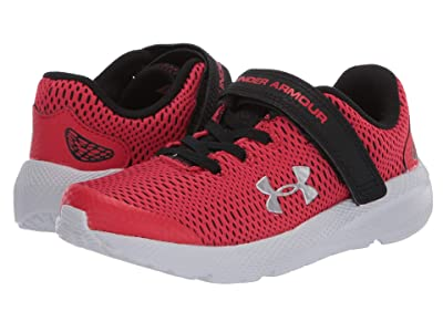Under Armour Kids Pursuit 2 (Little Kid) (Versa Red/Black/Metallic Silver) Boys Shoes