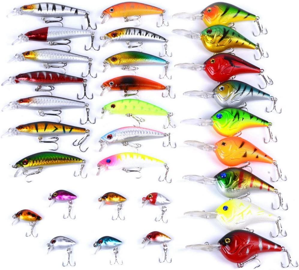 Luxury goods Aorace Fishing free shipping Lures Kit Mixed Bai Crank Including Minnow Popper