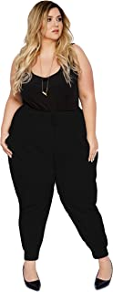 Astra Signature Women Plus Size French Terry Jogger Pants with Pockets Active Yoga Sweatpant