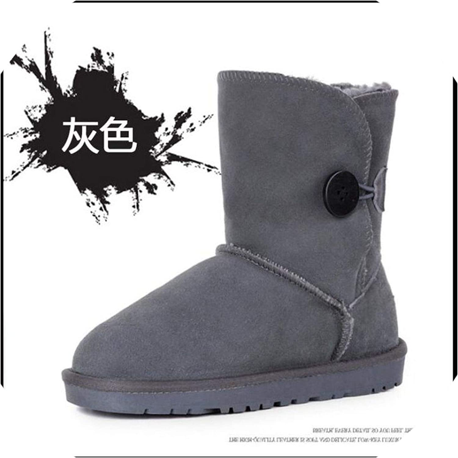 2018 Women Boots Australia Classic Style Snow Boots Button Leather Boots