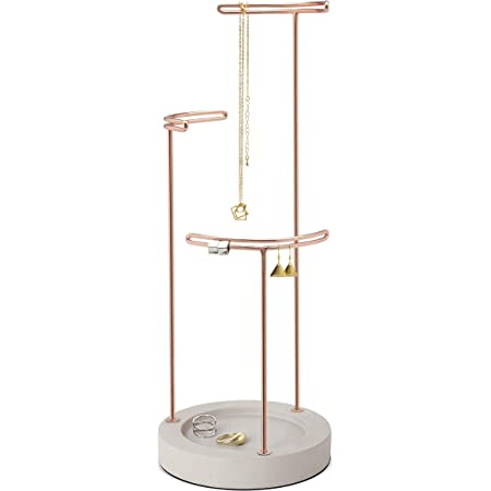 Lanc\u00f4me black /& pink 3 tier jewelry holder