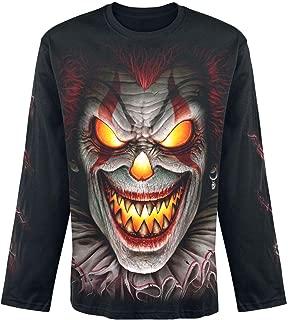 Spiral Tactical Reaper Mens Biker Rocker Coton T-Shirt Noir /à Manches Longues