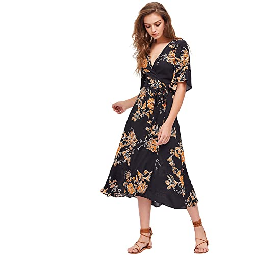top style another chance great discount Boho Floral Dress: Amazon.com