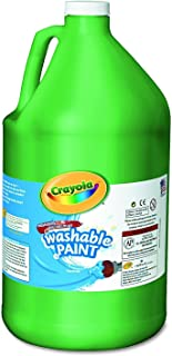 Crayola Washable Green Paint, 1 Gallon Size, Painting Supplies in Bulk