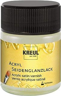KREUL- Vernis Acrylique satiné Transparent à Base de résine 50 ML, 79407