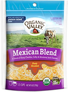 Organic Valley, Organic Mexican Blend Shredded Cheese - 6 oz Bag