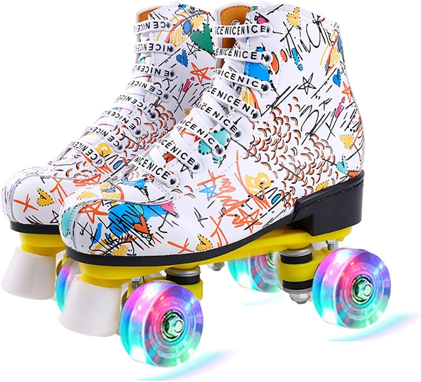 CHENGSYSTE Inline New Shipping Free Skates Women 6 Ska Microfiber Max 52% OFF Choice Pu Roller